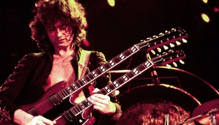 Jimmy Page e suas Gibsons